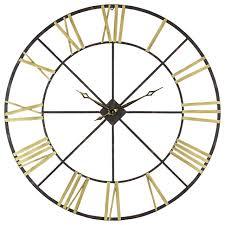 Decorative Metal Wall Clocks Baldwin Oversized Metal Wall Clock 48