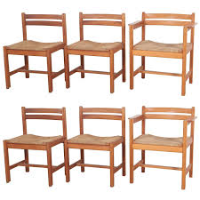 Dining Chair Set Of Six Borge Mogensen Rush Seat Dining Chairs For Sale At 1stdibs