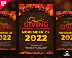thanksgiving flyer free psd uxfree