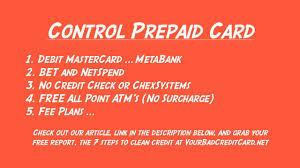 metabank prepaid cards prepaid card