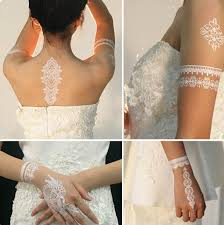 50sheets lace white ink tattoo temporary white henna tattoo