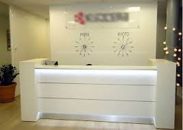 White Reception Desk Valde Linear Reception Desk Mdd Office Furniture Modern Manhattan