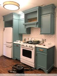 How To Paint My Kitchen Cabinets My Freshly Painted Teal Kitchen Cabinets