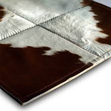 Black And Brown Rugs Chic Patchwork Rug From Black And Brown Cowhide In Five Sizes
