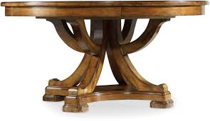 Antique Pedestal Dining Table Hooker Furniture Dining Room Tynecastle Round Pedestal Dining