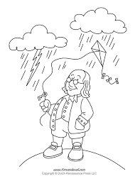 benjamin franklin coloring page coloring books 1265