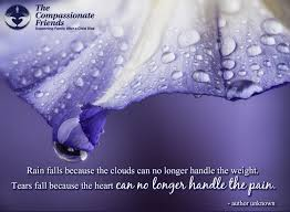 Quotes After Losing A Loved One by Grief Quotes Rain Falls Because The Clouds The Compassionate