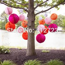 Pink And Yellow Birthday Decorations Aliexpress Com Buy Orange Pink Red Yellow 6inch 15cm Honeycomb