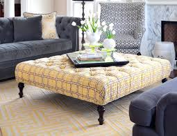 ottoman one yellow leather tufted ottoman yellow tufted storage