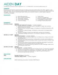 resumes 2016 sles marketing resume templates learnhowtoloseweight net