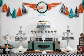 Vintage Birthday Decorations Formula One Style Boy U0027s Race Car Birthday Party Spaceships And