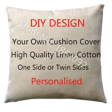 design your own pillowcase personalized cushion cover linen personalised custom throw pillow