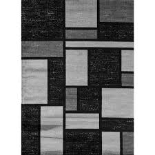Modern Black Rugs World Rug Gallery Contemporary Modern Boxes Gray 2 Ft X 3 Ft