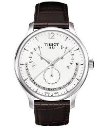 tissot bracelet leather images Tissot men 39 s swiss tradition perpetual calendar brown leather tif