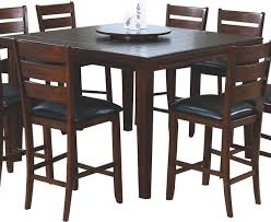 Square Bar Table Monarch Specialties 1833 Square Pub Dining Table With Lazy Susan