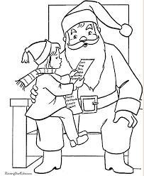 253 free santa coloring pages kids