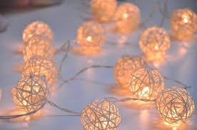 rattan string lights white colour