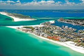 Navarre Beach Florida Map by Emerald Coast See Florida
