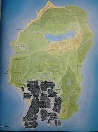 Gta 5 Map Leaked Gta 5 Map Shows Off The Huge Size Of Los Santos