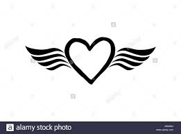 love heart with wings valentine day icon lost love sign good