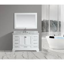 54 Inch Bathroom Vanity Single Sink Design Element London 54 Inch Single Sink Vanity Set In White