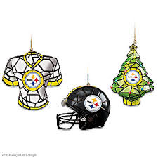 nfl pittsburgh steelers gridiron glow ornament collection