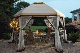 Replacement Awnings For Gazebos Replacement Canopy For Long Beach 13 U0027 Hex Gazebo The Outdoor