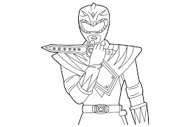 draw mighty morphin power rangers coloring pages 59 coloring