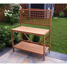 Free Wooden Potting Bench Plans by Merry Products Folding Potting Bench Free Shipping Today