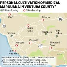 Ojai California Map Most Ventura County Cities Move To Ban Personal Cultivation Of