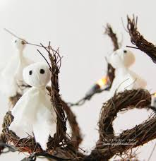 diy halloween tissue u0026 pom pom ghosts for decorations garlands