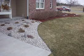 River Rock Landscaping Ideas Landscaping With River Rock Installation Front Yard Landscaping