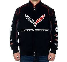 corvette racing jacket corvette jacket clg3 black embroidered logos corvette racing