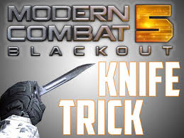 modern combat 5 knife trick youtube