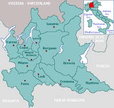 provinces of italy map lombardy region italy
