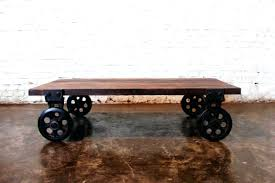 antique industrial cart coffee table with design image 8281 zenboa