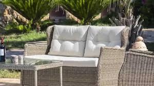 divanetti in vimini da esterno set relax con intreccio wicker catalogo deghi