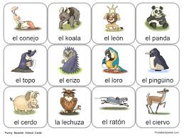 animal cards available only at printablespanish