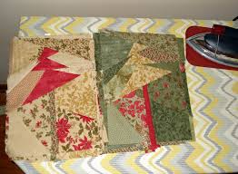 crazy christmas tree quilt u0026 folded fabric ornaments u2013distractions
