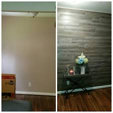 Peel And Stick Wood Floor Peel And Stick Luxury Vinyl Floor Planks On Wall I Used Tacks In