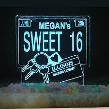 personalized sweet 16 drivers license birthday cake topper