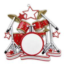 or640 drum set personalized ornament polarx ornaments