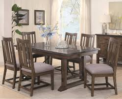 dining room rustic dining room set expandable table tufted chair