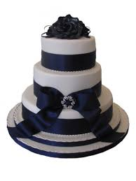3 Tier Wedding Cake Blue Diamonte U0026 Ribbon 3 Tier Wedding Cake C1 Cccakes