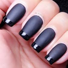 tutorial matte black french tip manicured u0026 marvelous