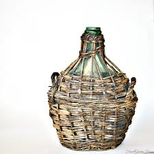 french bonbonne wicker encased bottle demi john