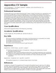 Example Of Resume Skills And Qualifications by Apprentice Cv Sample Myperfectcv