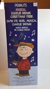 musical brown christmas tree 24 peanuts brown musical christmas tree 24 98 picclick