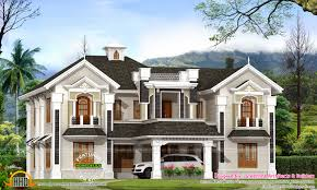 colonial style home plan unbelievable house low cost kerala design