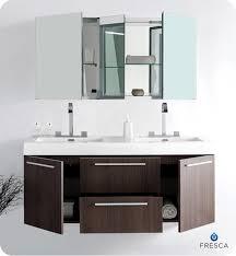 Cabinets For Bathroom Vanity Fresca Opulento Gray Oak Modern Double Sink Bathroom Vanity W